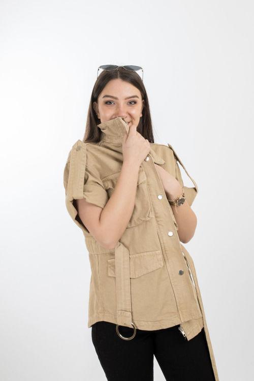 24-5402 Çift Cepli Bağlamalı Ceket resmi