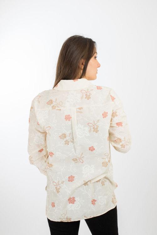 21174 Çiçek Desenli Gömlek resmi