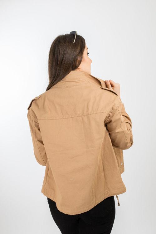 24-5393 İçi Kot Detaylı Ceket resmi