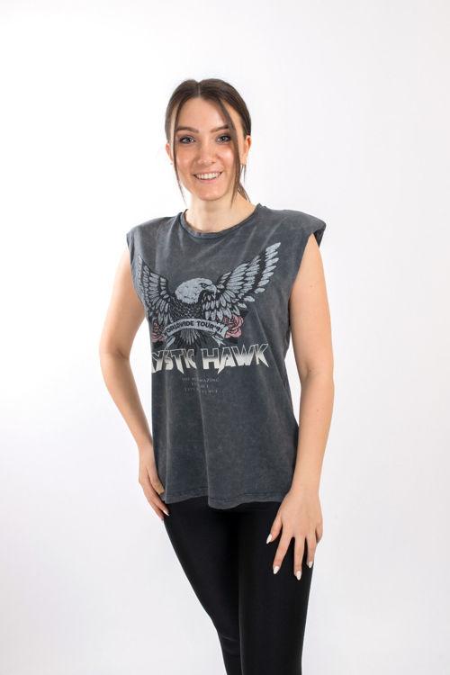 SL0000094 Kartal Baskılı Vatkalı Tshirt resmi