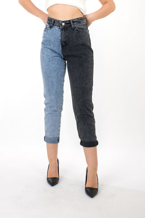 984 Çift Renk Kot pantolon resmi
