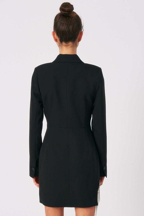 88222 Taş Püsküllü Ceket Elbise resmi