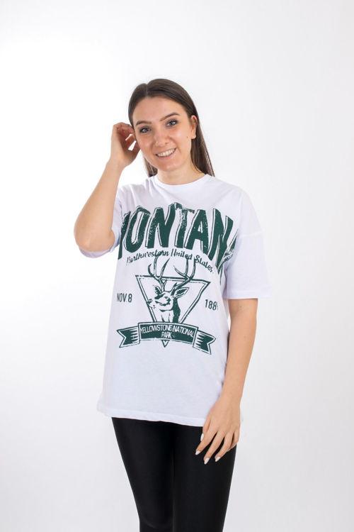 S0006132 Montana Baskılı Oversize Tshirt resmi
