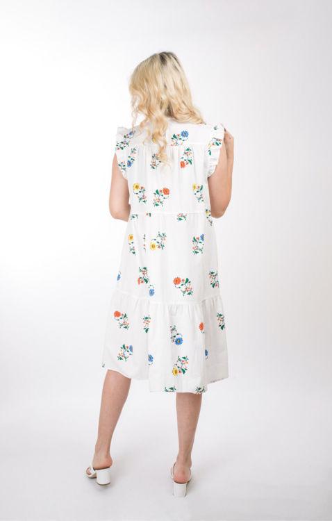 21239 Çiçek Desenli Elbise resmi