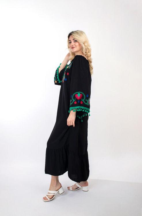 2348 Çiçek Desenli Şalvar Elbise resmi