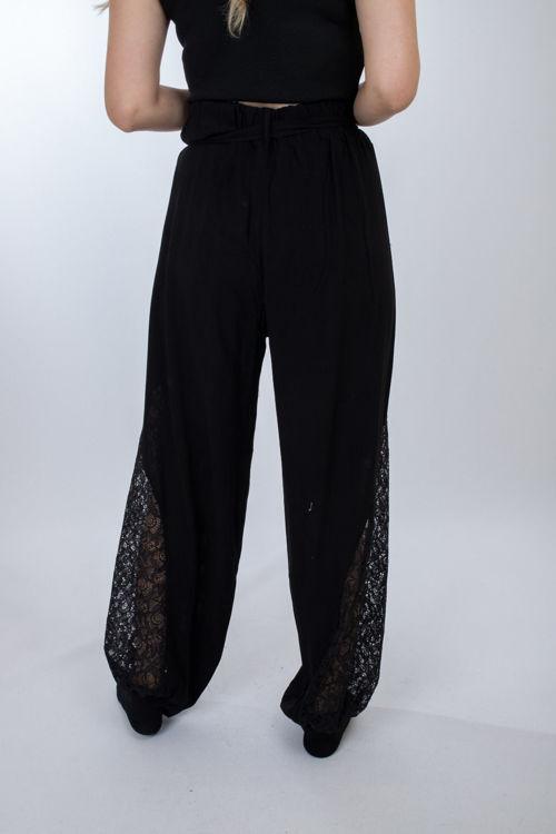 008 Dantel Detay Şalvar Pantolon resmi