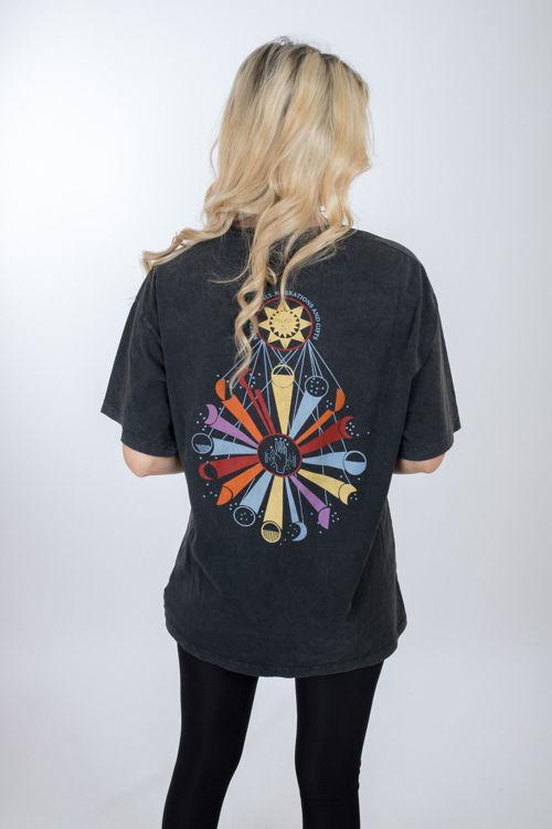 2722 Baskılı Oversize Tshirt resmi