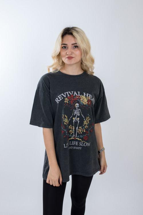 2754 Baskılı Oversize Tshirt resmi