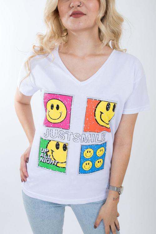 1000 Emoji Baskılı Tshirt resmi