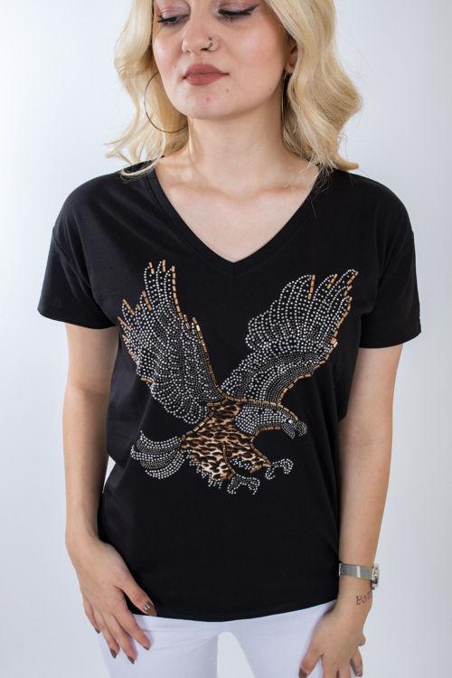 1005 Taş İşlemeli Tshirt resmi