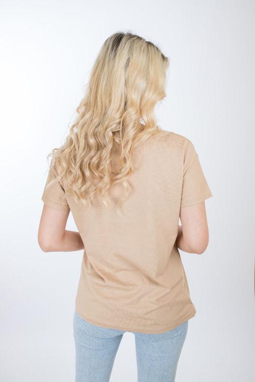 1009 Yaprak İşlemeli Tshirt resmi