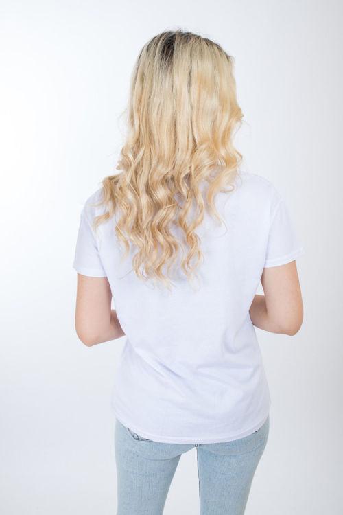 1010 Kız Baskılı Taş İşlemeli Tshirt resmi