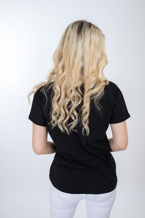 1017 Leopar Desen Taş İşlemeli Tshirt resmi