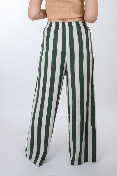 2021 Çizgili Bol Pantolon resmi
