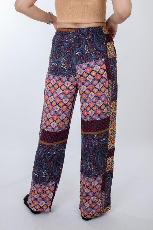2021 Desenli Bol Pantolon resmi