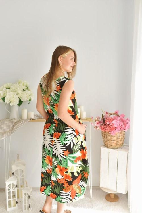 2392 Desenli Salaş Elbise resmi