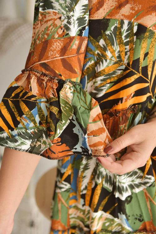 2138 Desenli Salaş Elbise resmi