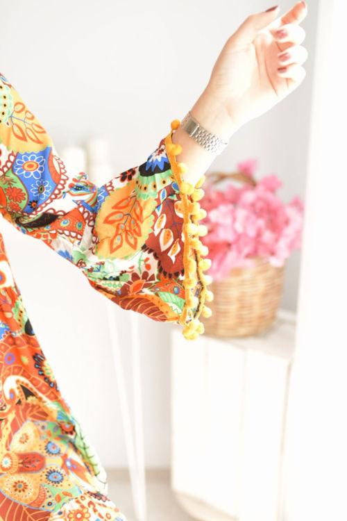 2053 Desenli Salaş Elbise resmi