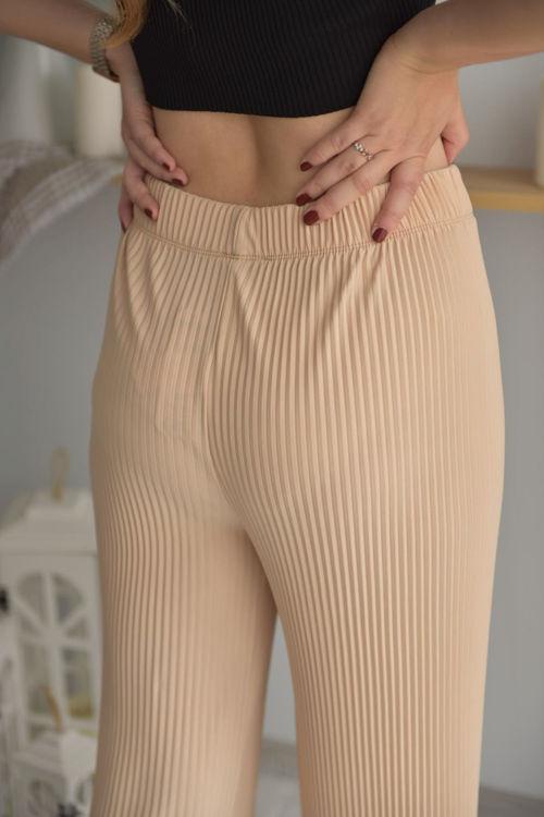 3001 Piliseli Bol Pantolon resmi