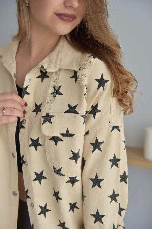 725 Yıldızlı Keten Ceket resmi