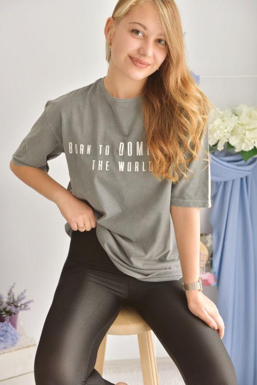 6001 Baskılı Oversize Tshirt resmi
