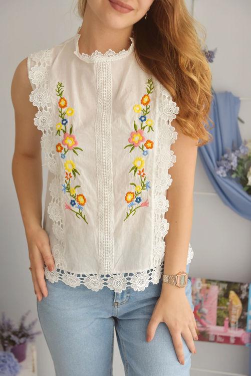 21368 Çiçek Desenli Bluz resmi