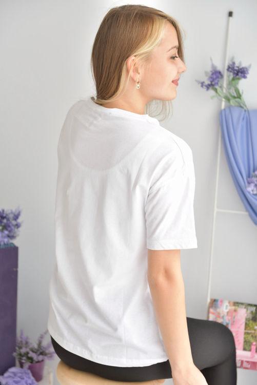 S0008219 Cep Detay Tshirt resmi
