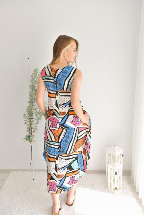 Desenli Salaş Elbise 2392 resmi