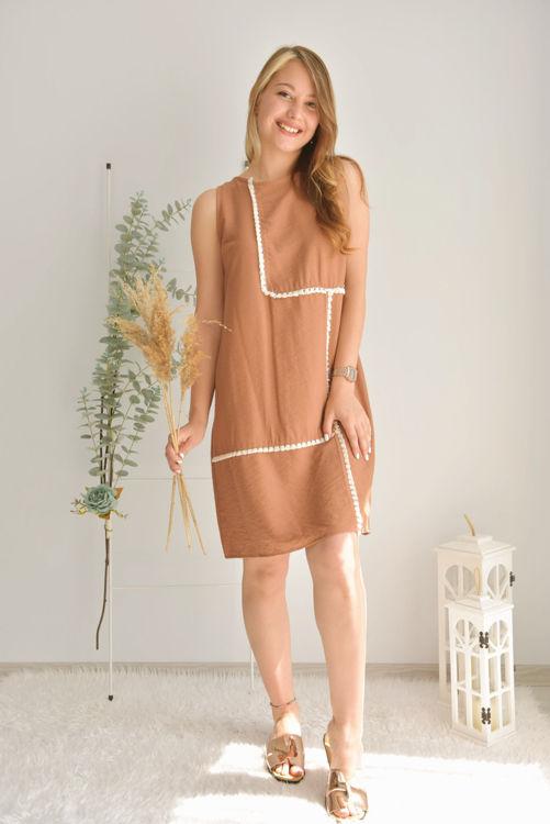 Sırt Detay Püsküllü Elbise 21-5648 resmi