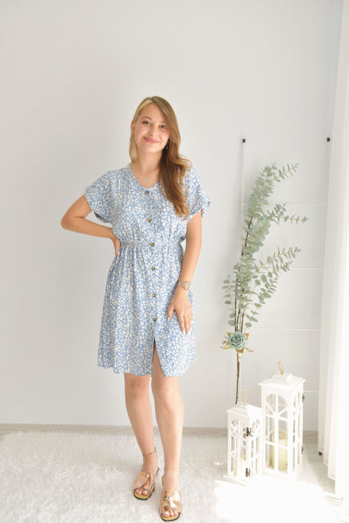 Beli Lastikli Desenli Elbise 4517 resmi