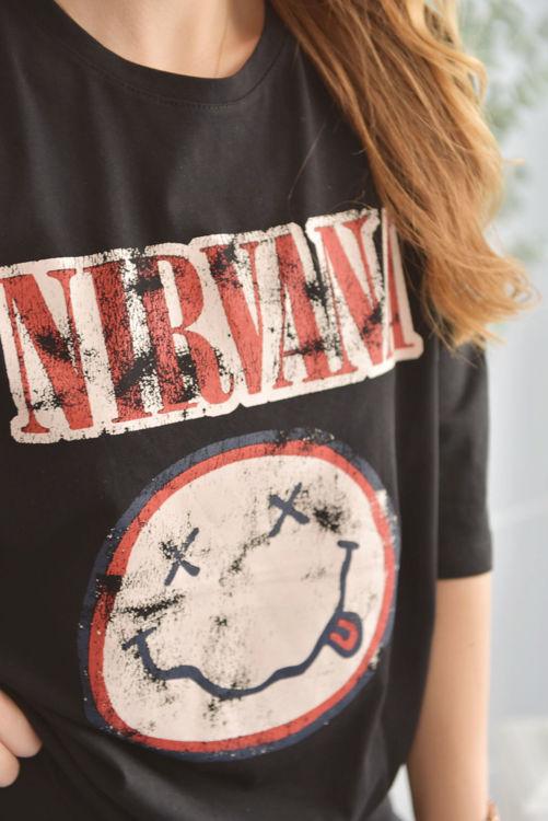 6001 Nirvana Baskılı Tshirt resmi
