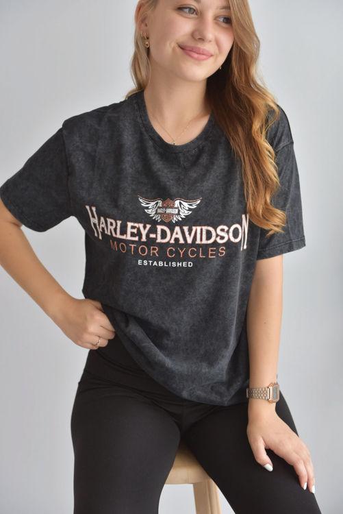 Harley Davidson Baskılı Tshirt 3109 resmi