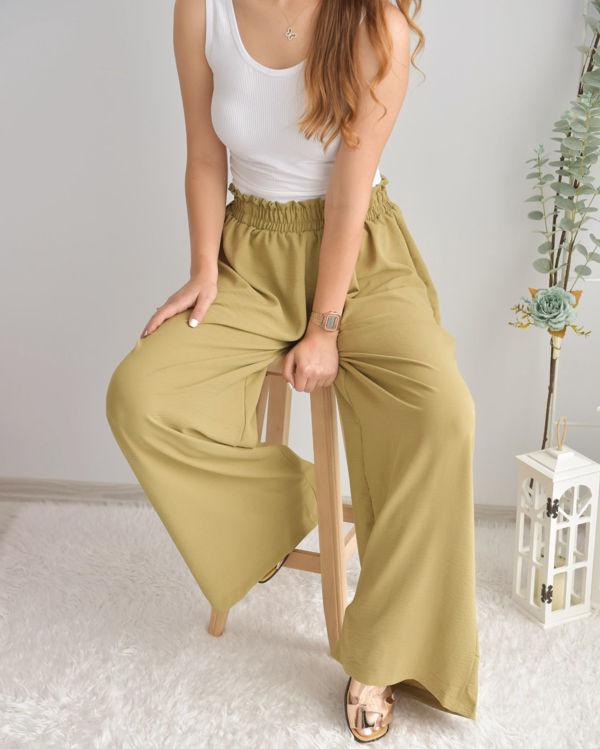 Bol Paça Beli Lastikli Pantolon 3746 resmi