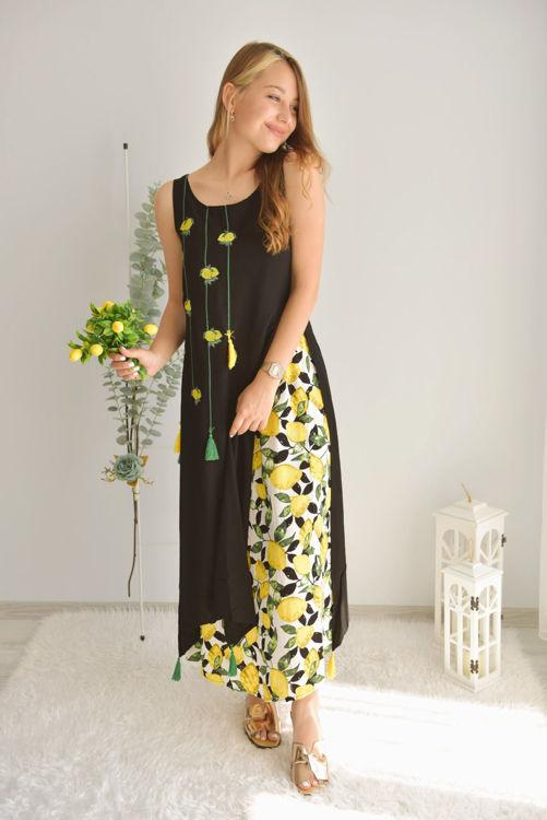 Limon Baskılı Elbise 2484 resmi