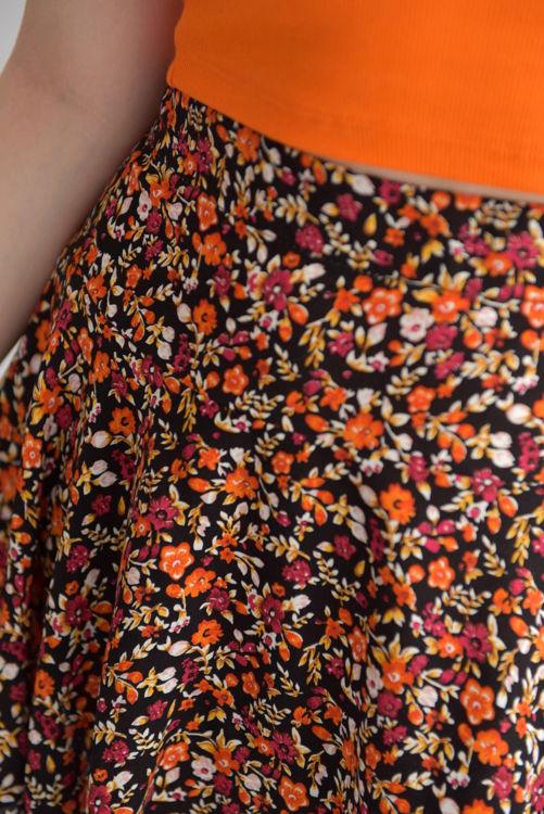 96 Çiçek Desenli Şort Etek resmi