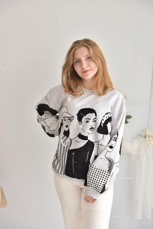 W0006624 Baskılı Sweatshirt resmi