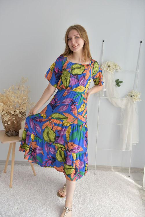 3059 Çiçek Desenli Elbise resmi