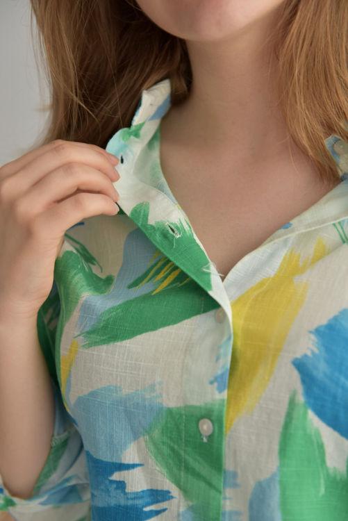 2997 Desenli Uzun Kol Gömlek resmi