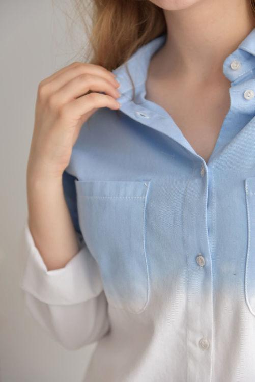 1039 İki Renkli Uzun Kol Gömlek resmi