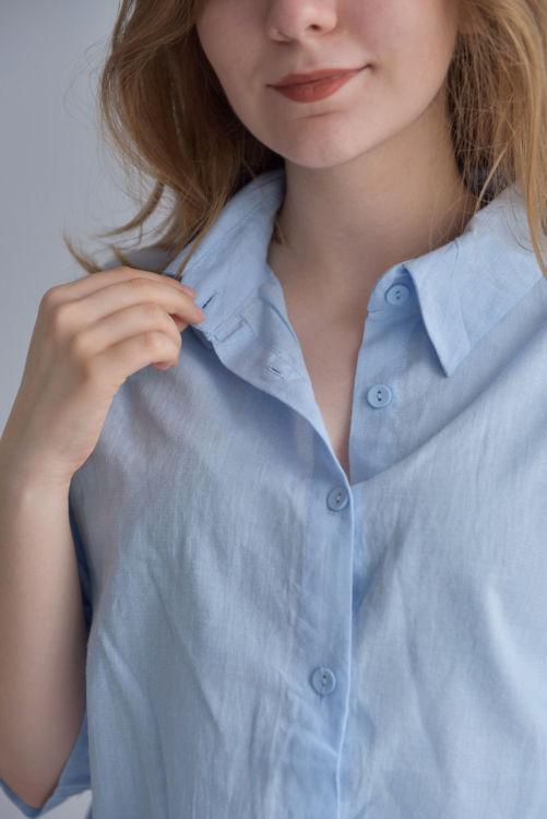 603 Kısa İnce Keten Gömlek resmi