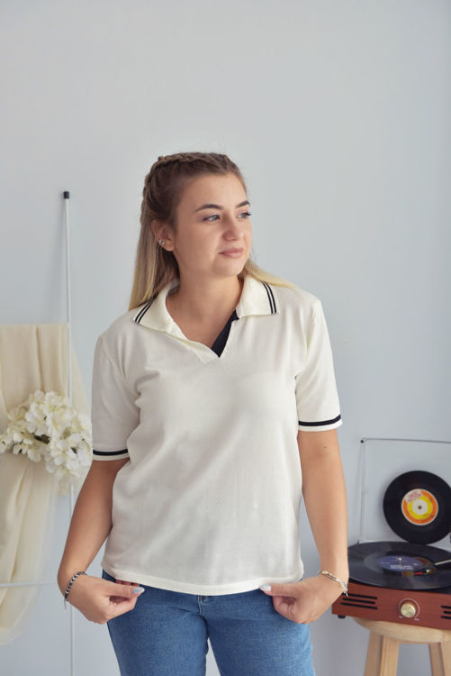 5094 Polo Yaka Merserize Tshirt resmi