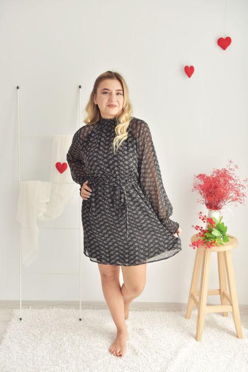 W0006061 Kol Ucu ve Boğaz Gipeli Elbise resmi