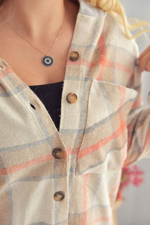 4203 Kapüşonlu Oduncu Gömleği resmi