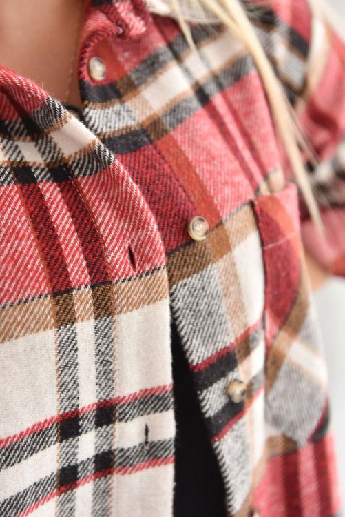 19105 Ekose Desen Oduncu Gömleği resmi