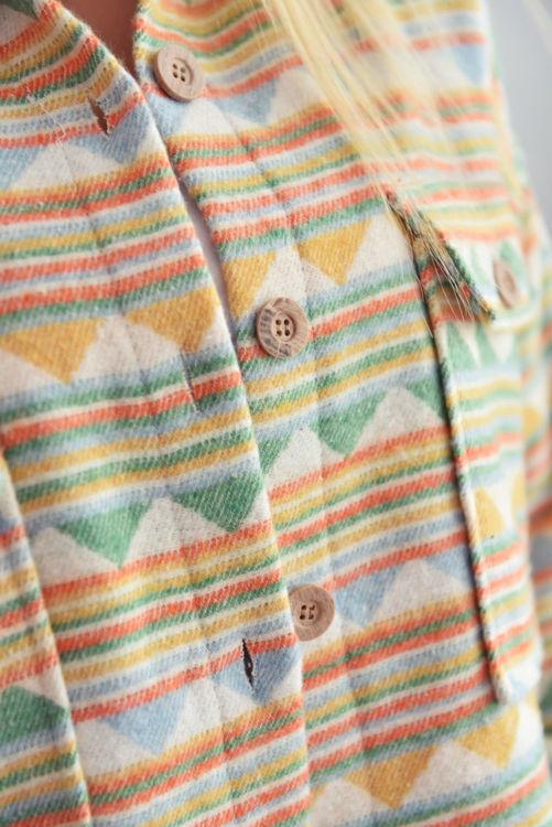 8228 Kilim Desen Cepli Gömlek resmi