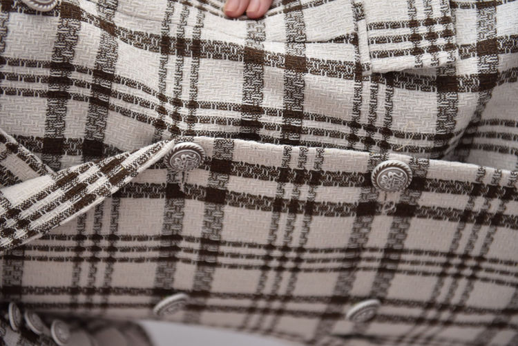3112-28 Ekose Desen Blazer Ceket resmi